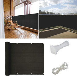 1 sztuk balkon anty-uv siatka cieniująca czarny szary ekran balkonowy HDPE ekran zasłaniający Panel ogrodzeniowy ogrodowa parasol przeciwsłoneczny 90*500cm