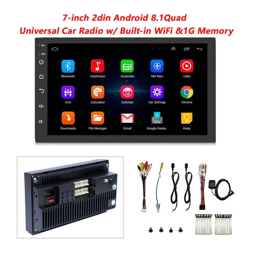 2 Din 1GB RAM 16GB ROM Android 8.1 Car radio Multimedia Video Player Universal auto Stereo GPS MAP For Toyota Nissan Suzuki image