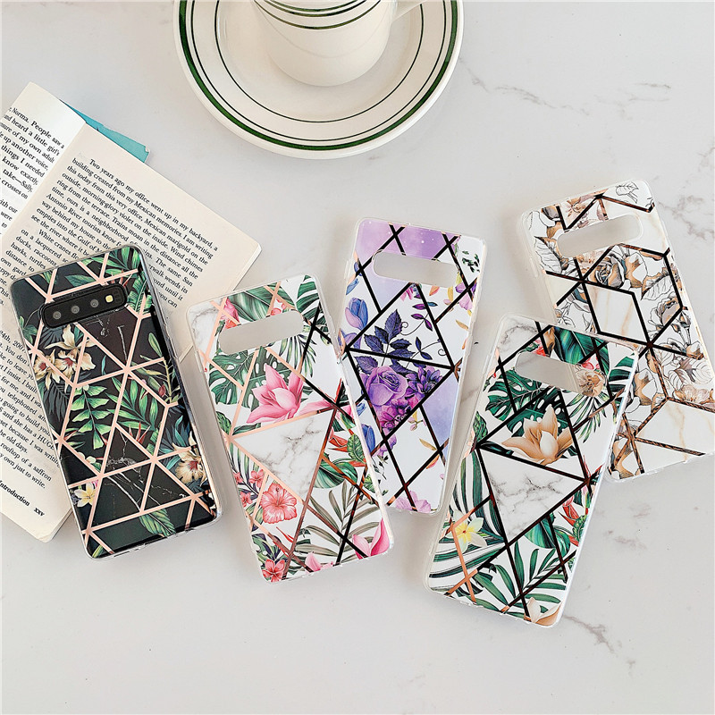 COOLY Plating <font><b>Flowers</b></font> <font><b>Case</b></font> For <font><b>Samsung</b></font> <font><b>Galaxy</b></font> M10 A50 A10 A20 A30 <font><b>A70</b></font> Back Cover Luxury Cartoon Soft TPU Silicone Phone Coque image