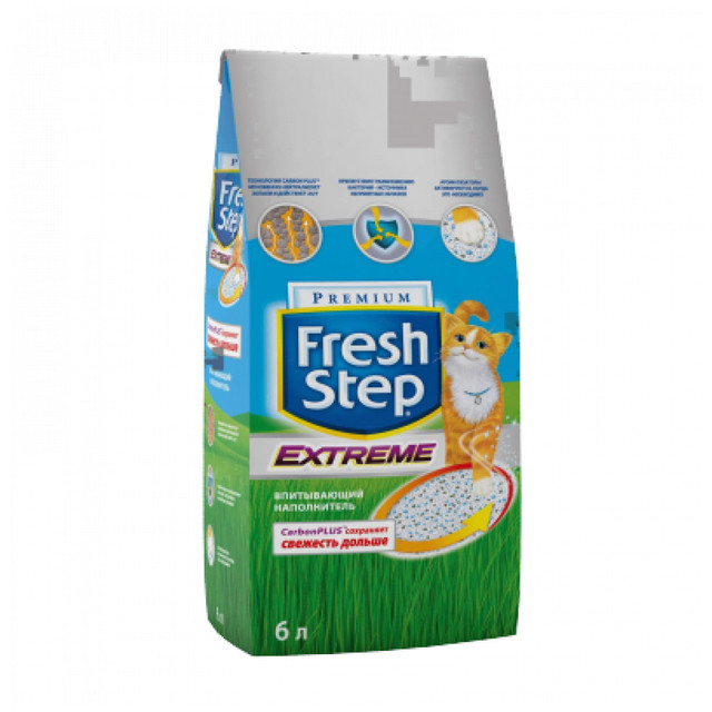 Наполнитель для кошачьего туалета Fresh Step Extreme, 6л