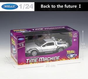 Image 5 - WELLY 1:24 Diecast รุ่นรถ DMC 12 DeLorean กลับสู่อนาคต Time Machine โลหะของเล่นสำหรับของเล่นเด็กคอลเลกชันของขวัญ