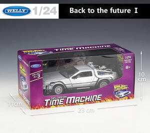 Image 5 - Welly 1:24 Diecast Alloy Model Car DMC 12 delorean back to the future Time Machine Metal Toy Car For Kid Toy Gift Collection