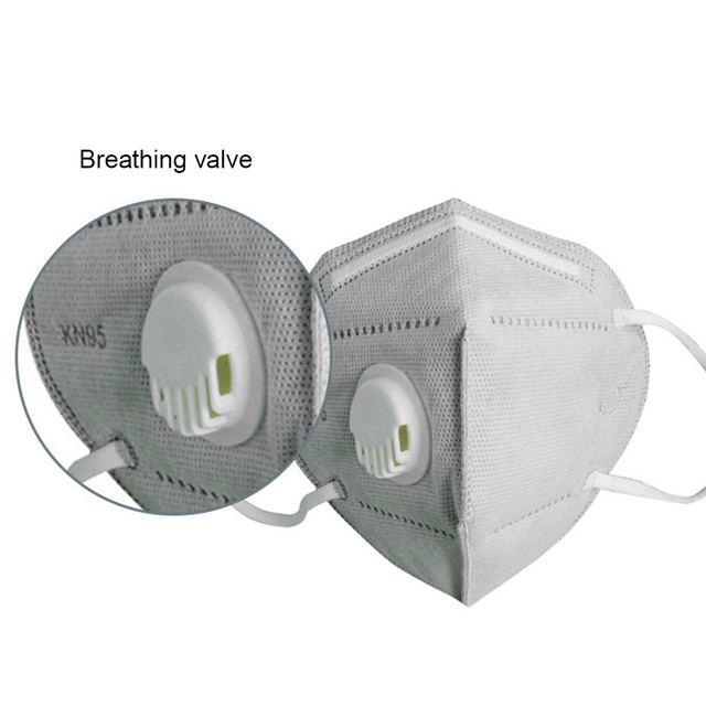 50pcs KN95 Valve Mask 5 Layer Flu Anti Infection N95 Protective Masks ffp2 Respirator PM2.5 Safety Mask 4