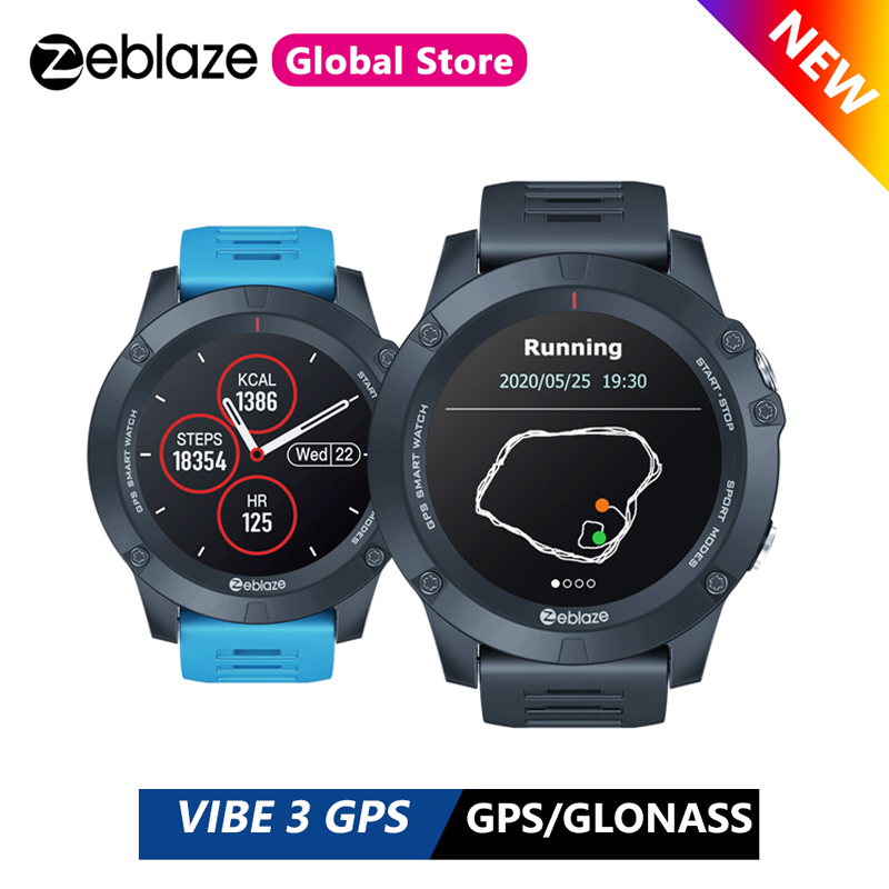 New Zeblaze VIBE 3 GPS Multi Sports Modes Smartwatch Heart Rate Waterproof/Better Battery Life GPS Smart Watch For Android/IOS(China)