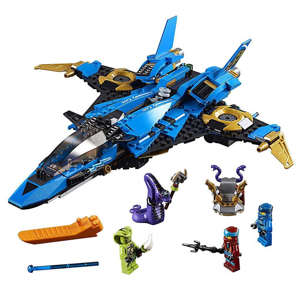 549Pcs Ninja Jay's Storm Fighter Compatible Legorret <font><b>Ninjagoing</b></font> Building Blocks Toy for Children DIY Brick Gift image