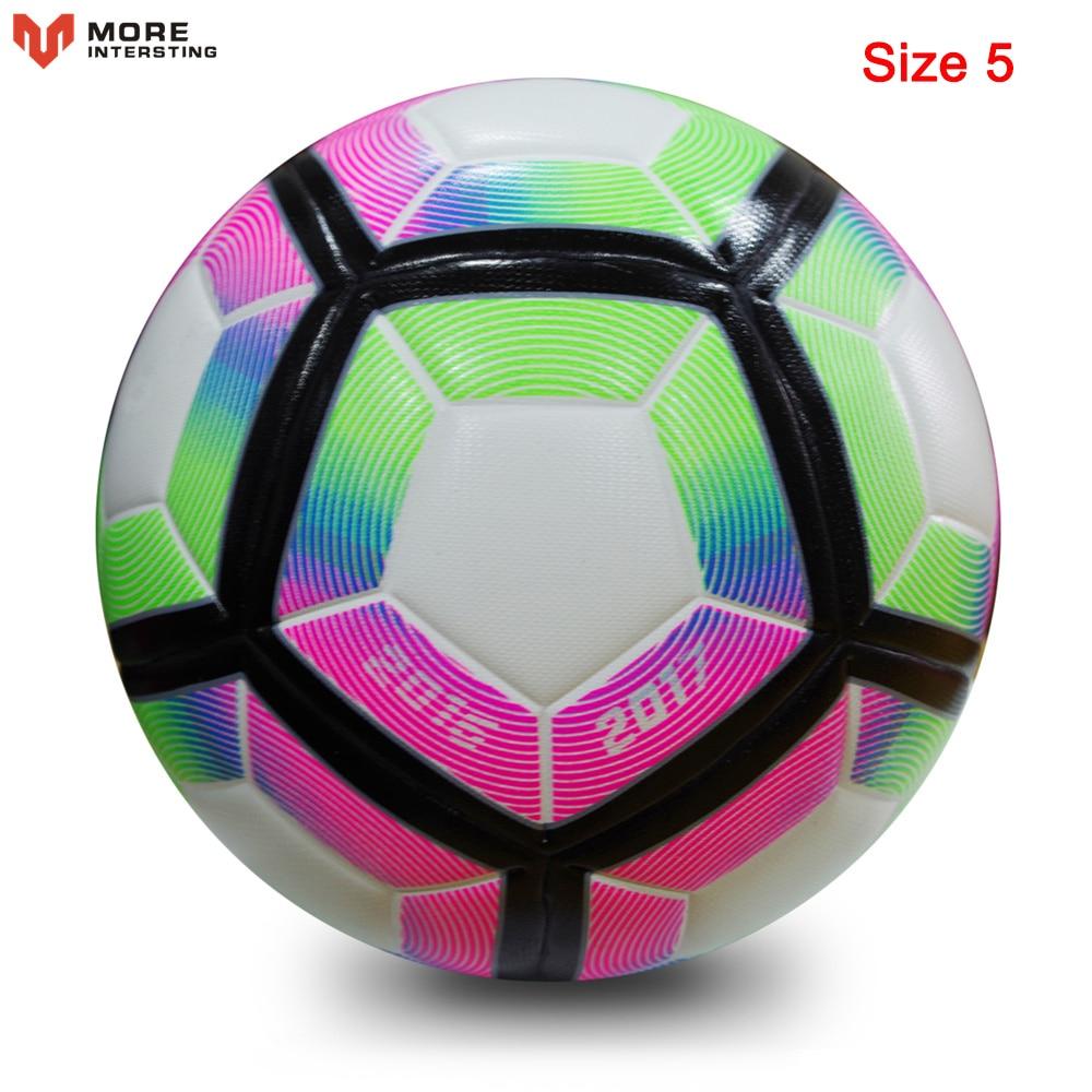 Russia Professional Size 4 Size 5 Football Premier PU Seamless Soccer Ball Goal Team Match Training Balls League futbol bola 17