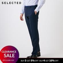 SELECTED Men's Pure Color Regular Fit Suit Pants T