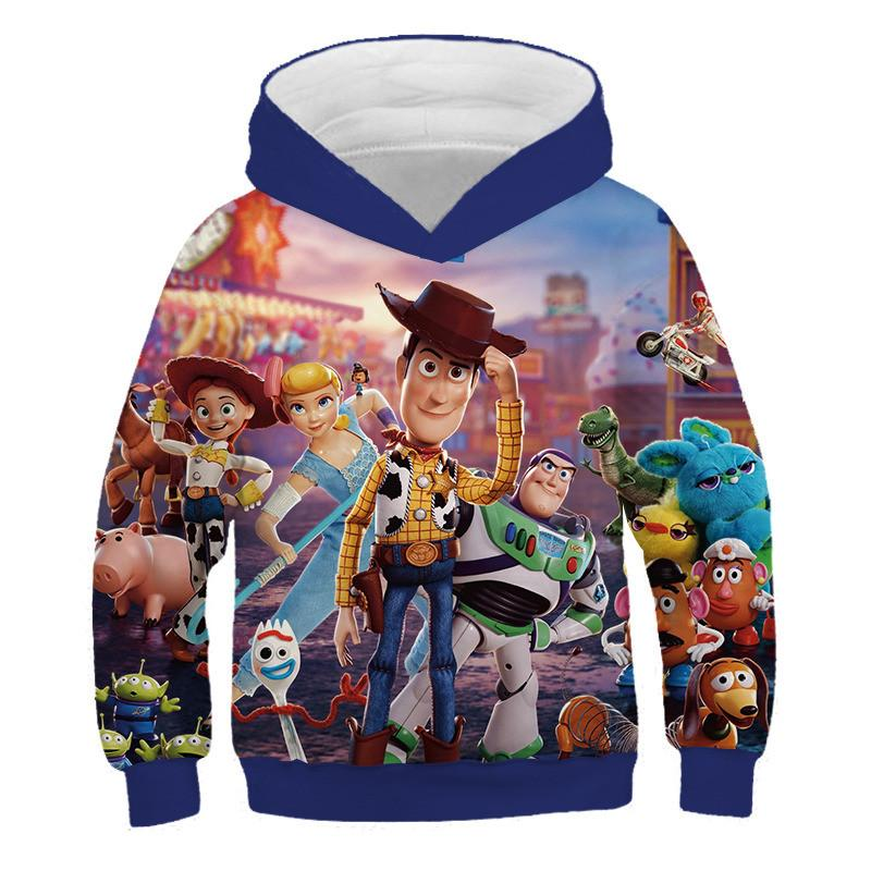 Woody Print Children Toy Story 4 3D Print Boy Hooded, Buzz, Buzz Lightyear Print Boy / Girl Funny Clothes Hoodie