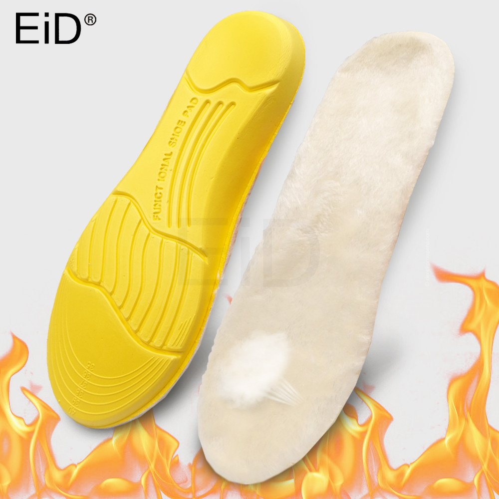 EID Keep Warm Heated Cashmere Thermal Insoles Thicken Soft Breathable Winter Sport Shoes Insert For Man Woman Boots Pad Sole