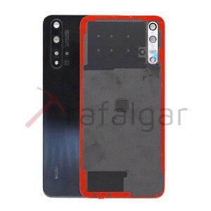 Image 4 - Оригинальная задняя крышка батарейного отсека для Huawei Nova 5T, задняя крышка корпуса, задняя панель + объектив камеры для Huawei Nova 5T, Крышка батарейного отсека
