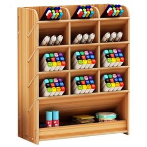 Image 5 - القلم الإبداعية لطيف التعلم مدون متعدد الوظائف صندوق تخزين سطح المكتب شخصية الحلي حامل قلم منظم