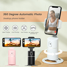 Adjustable Mobile Phone Desktop Stand Smart AI Face Recognition Tracking Stabilizer 360° Rotation Video Shooting Phone Holder