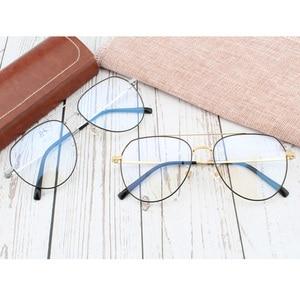 Image 3 - Pure titanium Prescription frame Pilot Mens Eyeglasses frame Ultra light  Vintage myopia glasses large titanium glasses frame