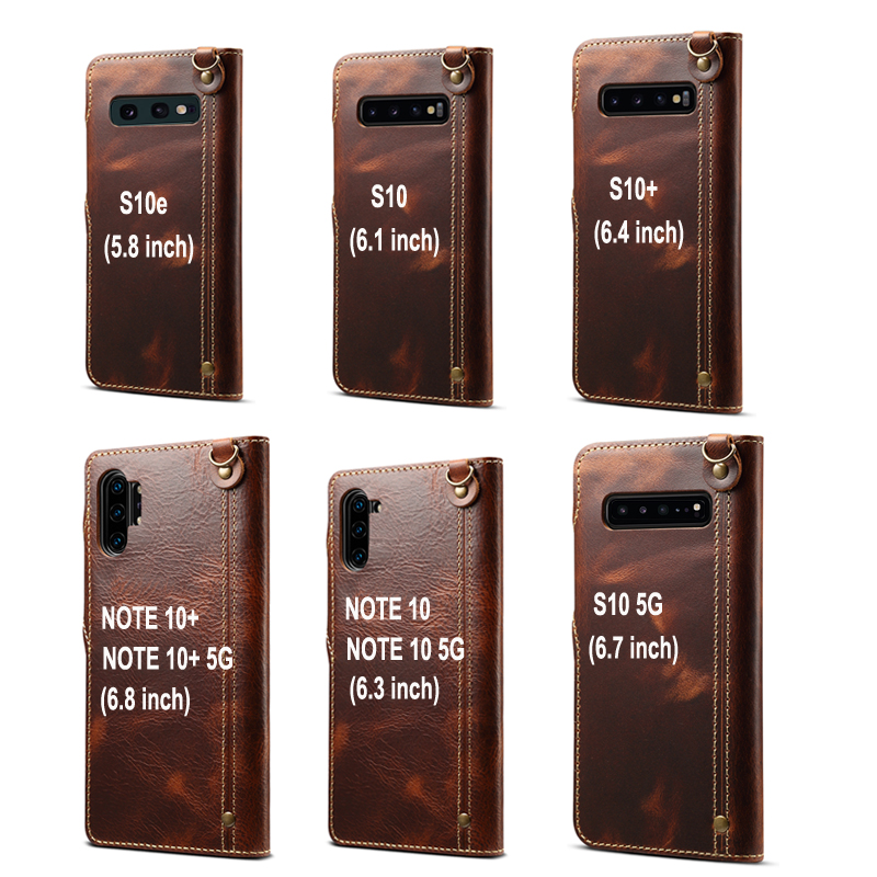 Real Leather for Samsung Note 20 Flip Case Samsung S20 Ultra Luxury Case for Samsung Galaxy S10 Cover Note 10 Plus S20+ Note20