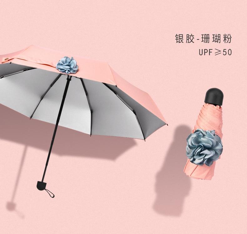 compacto dobrável guarda-chuva criança bolso ombrello pieghevole produtos domésticos df50ys