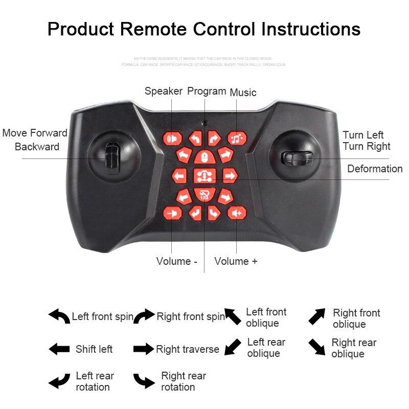 Управление жестами двусторонний трюк автомобиль жесты зондирования скручивание RC деформации автомобиль дрейф игрушка Подарки - 5
