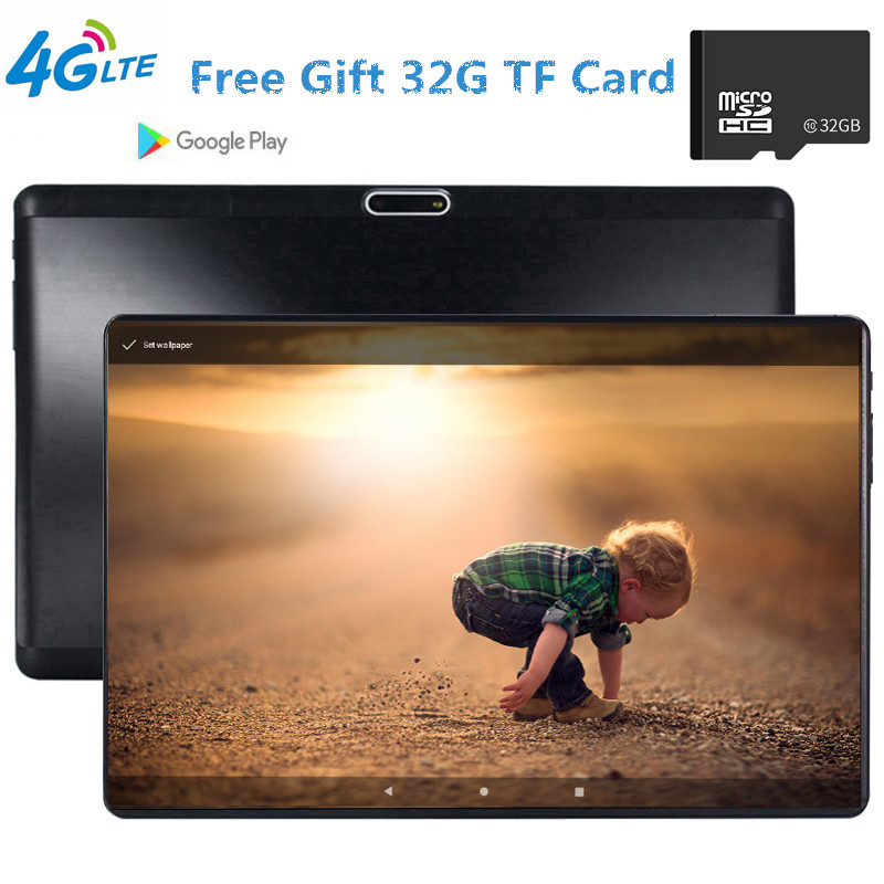 CARBAYTA 4G LTE MTK6739 Tempered 2.5D Screen 10.1 Inch Tablet PC Android 9.0 OS Quad Core 3GB RAM 32GB ROM Wifi GPS The Tablet