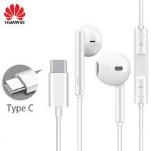 מקורי HUAWEI CM33 אוזניות USB סוג C באוזן Hearphone אוזניות מיקרופון נפח HUAWEI Mate 10 20 פרו 20 X RS P 10 20 30 הערה 10