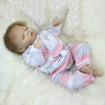 18'' Series SDK Cute Realike Reborn Baby Doll Full Costume Set Best Gift For Pre-Pregnancy Education - Cloth Body (SDK-81R2) фото