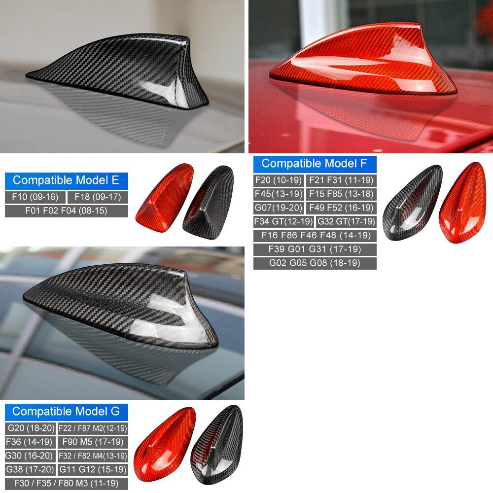 lowest price Carbon Fiber Shark Fin Antenna Cover for BMW E90 E92 E46 E36 E60 E70 F20 F30 F10 F22 F31 F15 F21 G30 G20 G01 G05 G07 Accessories