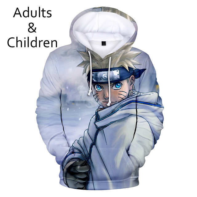 3D Personality Hoodies Men Boys Sweatshirt Harajuku Kids Hooded Autumn Winter Pullovers Kakash Hip Hop Child Tracksuits 5