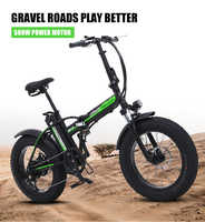 500W electric bike New Super Snow ebike 48V electric Folding bicycle aluminum alloy Motorcycle Portable electric fat tire bike