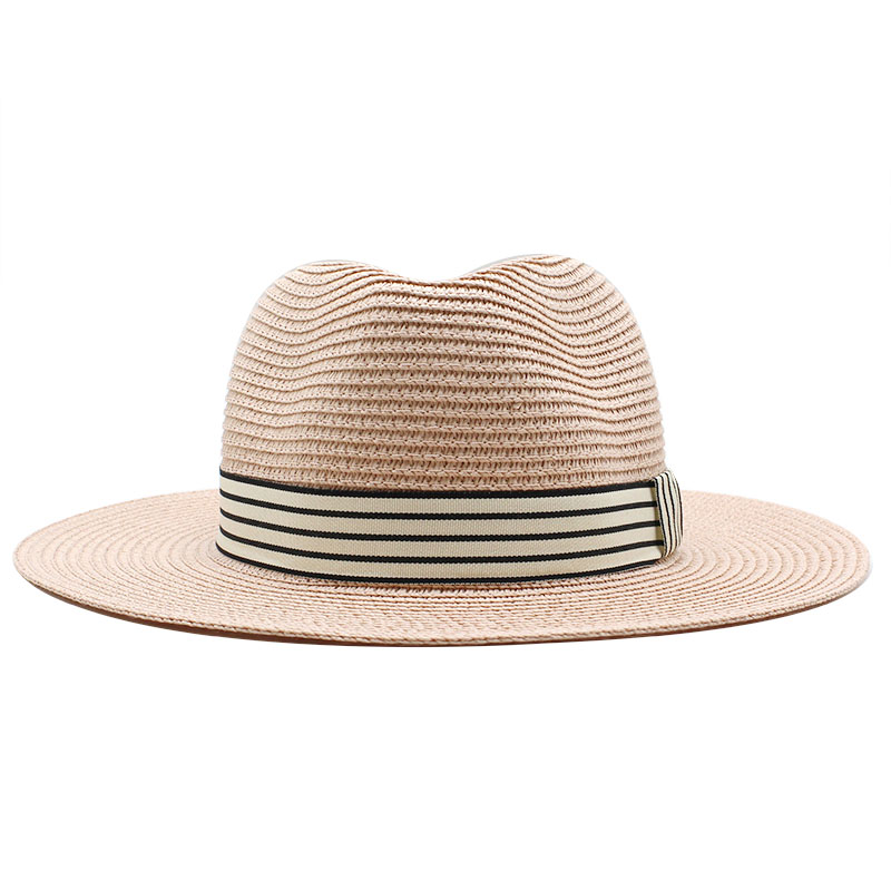 Panama Hat Summer Sun Hats for Women Man Beach Straw Hat for Men UV Protection Jazz Fedora chapeau femme