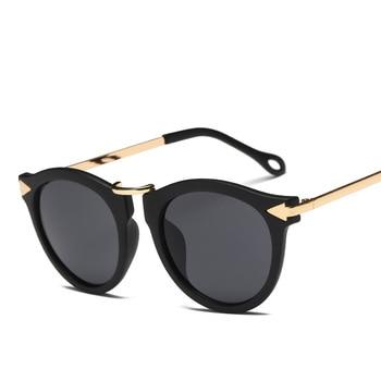 XaYbZc Cat Eye Sunglasses Women Luxury Brand Arrow Sun Glasses Vintage Shades For Woman Sunglass Ladies Flowers Sunglases 2