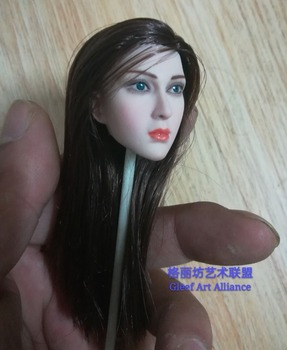 "1:6 Scale Movie TV star Woman pale Head Model Toy For 12"" Female Figure Body"