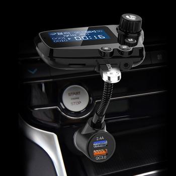 Samochodowe odtwarzacze MP3 T91 Bluetooth QC3 0 szybkie ładowanie 1 8 Cal wyświetlacz LCD 5 0 odbiornik audio aux zestawy samochodowe przekaźnik fm do zestawu głośnomówiącego tanie i dobre opinie Hokerbat bluetooth handsfree 87 5-108MHz Dual USB Bluetooth Car Kit MP3 WMA WAV FLAC Noise cancellation Support TF card U disk playback
