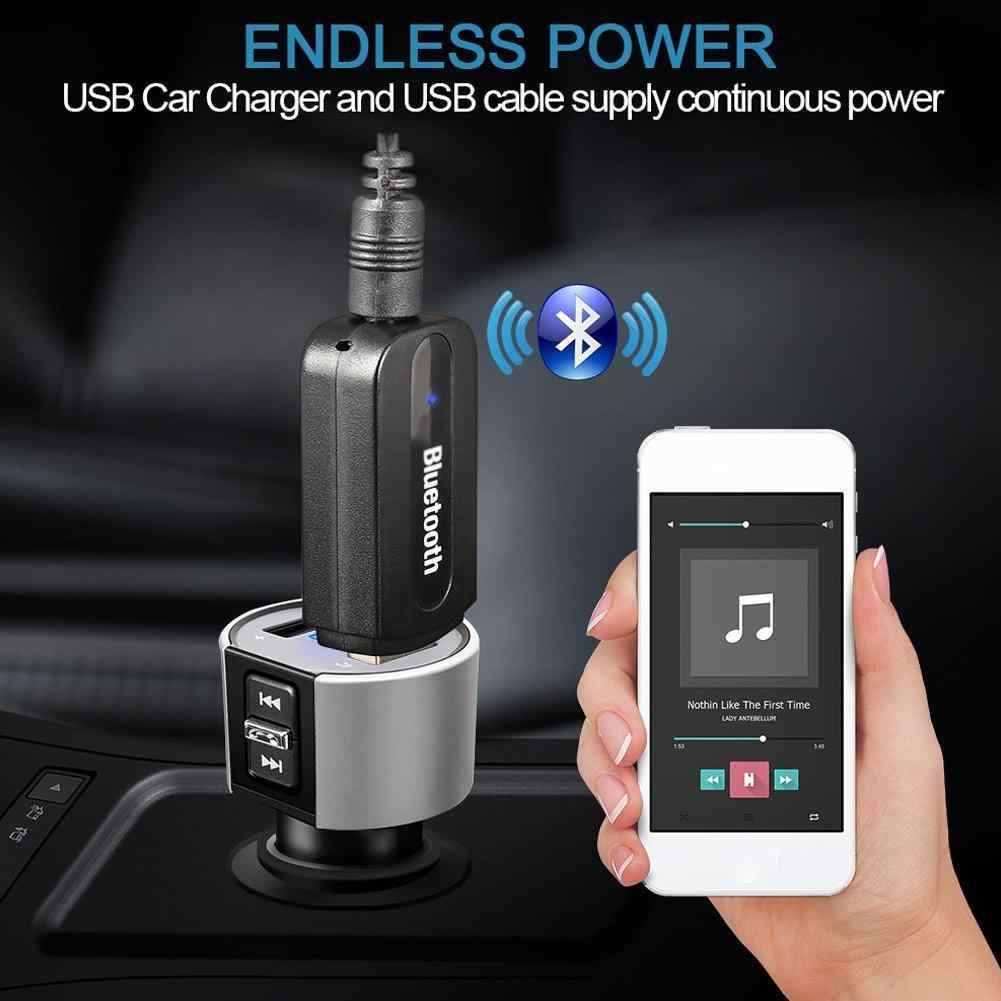 2019 Car Bluetooth Stick usb 2.0 Bluetooth Music Receiver Wireless Car Audio Receiver Bluetooth Adapter 3.5mm AUX Cable