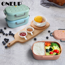 ONEUP Lunch Box For Kids Microwave Heating Container Cute Snack Bento Box Kitchen Food Container For School Picnic Accessories