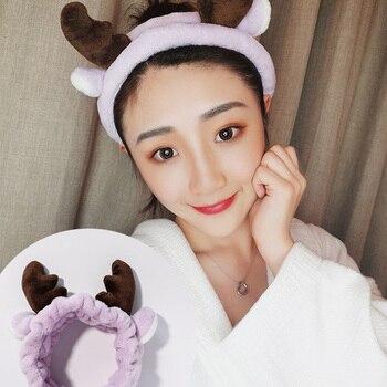 Wash Face Hair Holder Hairbands Soft Warm Coral Fleece Bow Animal Ears Headband For Women Girls Turban Fashion Hair Accessories 4