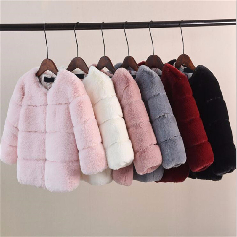 Thicken Mommy And Me Jacket For Family Matching Clothes New Mother Daughter Son Jackets Warm Girls Coat Faux Fur Boys Outwear