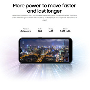 Глобальная версия смартфона Samsung Galaxy A01, мобильный телефон с двумя SIM-картами, 2 Гб ОЗУ 16 Гб ПЗУ, 5,7-дюймовый экран, 13 МП, FM-радио, 3000 мАч, 4G