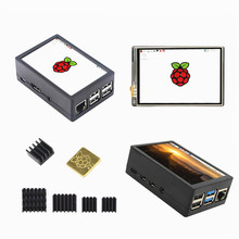 Abs-Case Heat-Sink Lcd-Display Touch-Screen Raspberry Pi New TFT for 4B 3B