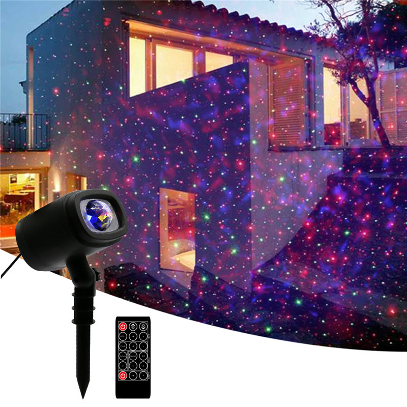 Christmas Projector Light Waterproof Outdoor/Indoor Landscape Move Pattern Decoration for Christmas Thanksgiving Birthday Party