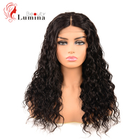 Brazilian Water Wave Wig 4x4 Lace Closure Human Hair Wigs Natural Hairline 180Density Remy Hair Wigs Natural Black Beauty Lumina