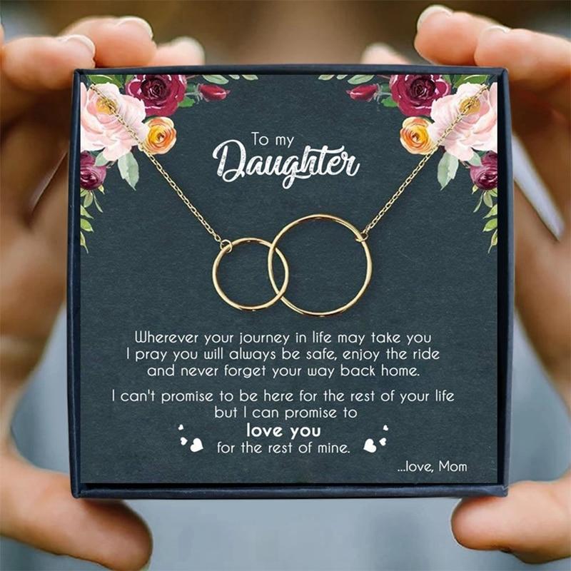 Ожерелье для матери и дочери, женское ожерелье с кулоном в виде двух колец бесконечности, подарки на день рождения от мамы, ювелирные издели...