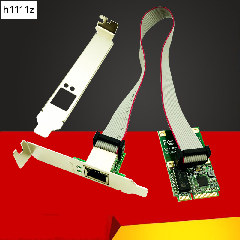 H1111Z Network Cards Mini PCI-E Network Card 1000Mbps Gigabit Ethernet 10/100/1000M NIC RJ45 LAN Network Adapter For Computer PC