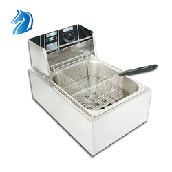 Electric Fryer Automatic 6L Fish and Chips Fryer Commercial Stainless Steel  Deep Fryer Machine