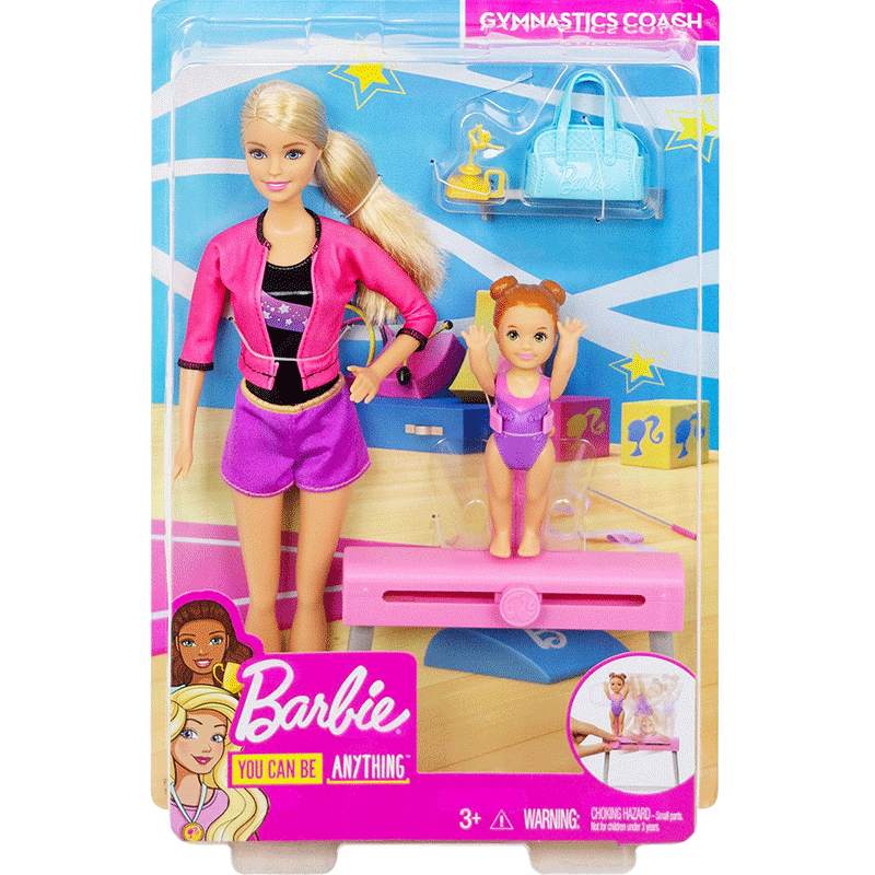 Barbie Gymnastics Coach Set Teacher Student Princess Doll Girl Birthday Gift Child Toy Fxp39 Aliexpress
