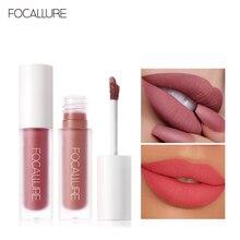 цена на FOCALLURE Waterproof Cosmetic Matte Velvet Lipgloss Lip Batom Makeup Sexy Liquid Lip Gloss Lip Makeup