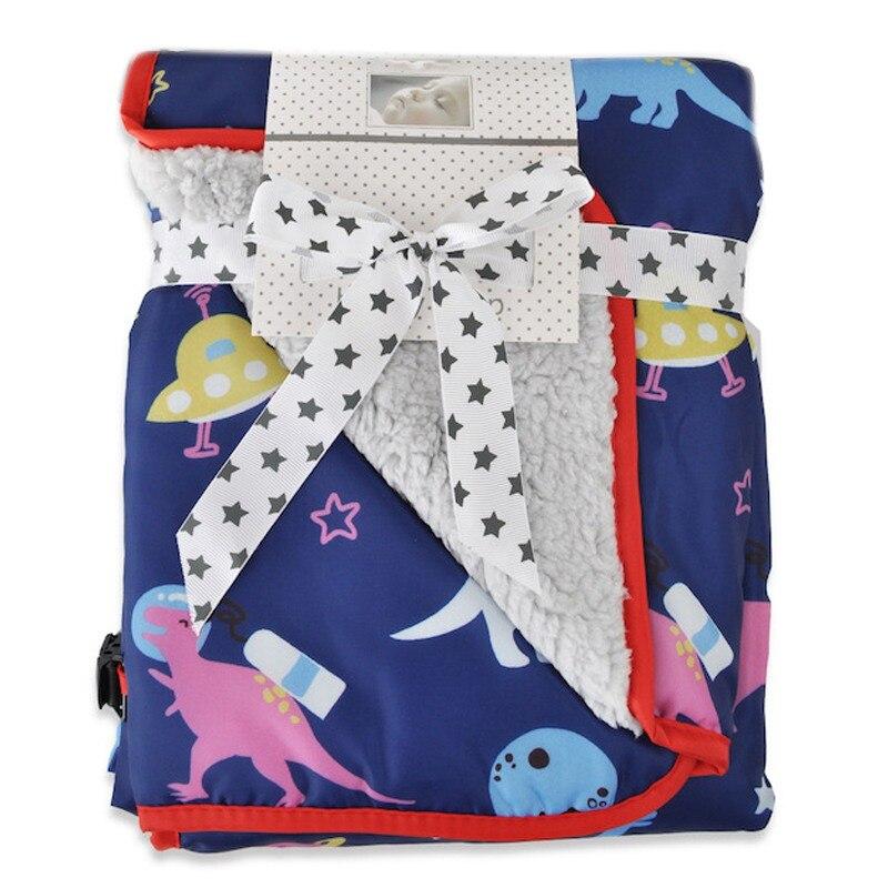 73*83 см детское многофункциональное зимнее теплое портативное одеяло с мультяшным рисунком, непромокаемое ветрозащитное одеяло для коляски - Цвет: C