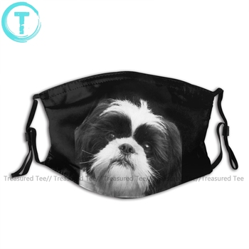 Shih Tzu Mouth Face Mask Shih Tzu Dog Facial Mask Funny Kawai for Adult with 2 Filters Mask luigi mansion mouth face mask luigi mansion facial mask funny kawai with 2 filters for adult
