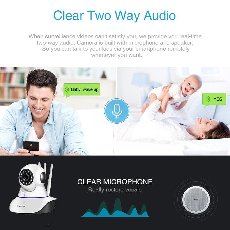 INQMEGA HD 1080P беспроводная Wi-Fi ip-камера домашний монитор безопасности для помещений умная сетевая видео система двухстороннее аудио/ночное вид...