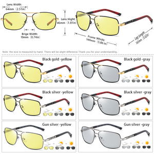 Image 5 - Kwadratowe okulary mężczyźni spolaryzowane fotochromowe dzień bezpieczeństwo w nocy jazdy okulary kobiety HD kwadratowe okulary gafas de sol hombre