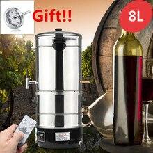 8 л DIY домашний дистиллятор Самогонный спирт из нержавеющей воды вино эфирное масло пивоварения набор виноделия машина 220 В