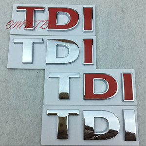 Car styling TDI Badge Emblem Decal car Sticker for VW Golf JETTA PASSAT MK4 MK5 MK6 skoda seat car accessories car-styling