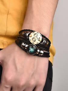2pcs/Set 12-Constellation Bracelets Braided Bangle Men Gift Women Jewelry Wrist Horoscope